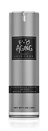 F Aging | SPF 30 Moisturizer with Natural Beeswax + Carnauba Wax | Anti Aging Hydra Defense Facial Hydrating Moisturizing Broad Spectrum Sunscreen SPF 30, 1 oz