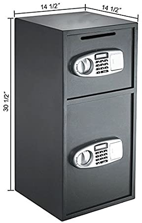 MRT SUPPLY Digital Double Door Safe Depository Drop Box Gun Safes Cash Office Security Lock with Ebook