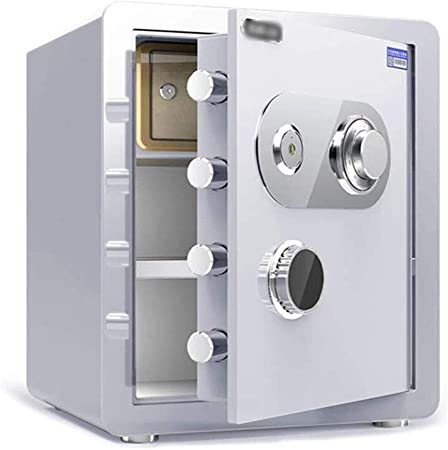 WANGJUNXIU Safes Household Small Mechanical Combination Lock Safe Anti-Drilling Fireproof Safe Steel Lock Bolt No Battery Required 4 Styles Safe Box Safe Box (Color : White)