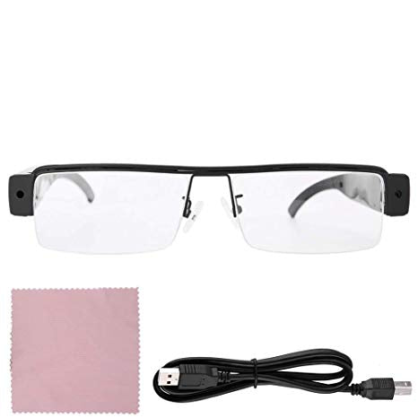 Glasses Security Camera 1080P HD Glasses Camera Video Recording Sunglasses Polarized Safety Lenses Stylish