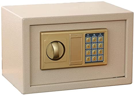 ZCF Security Safes Security Safes, Electronic Digital Security Safe with Alarm Box Keypad Lock Home Office Hotel Business Jewelry Cash Use Storage (Color : Gold)
