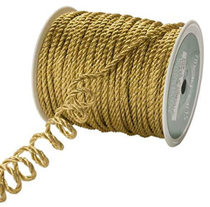 May Arts 2mm Wide Ribbon, Metallic Gold Cord