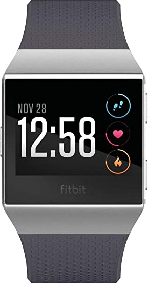 F_Fitbit_Ionic GPS Smartwatch, GPS Smart Watch,Blue-Gray/Silver, One Size (S & L Bands Included)