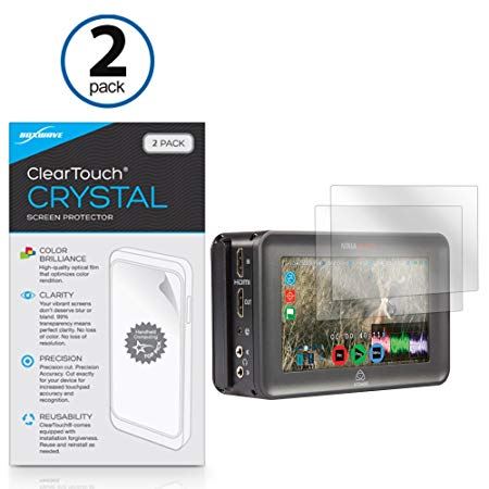Atomos Ninja Blade Screen Protector, BoxWave [ClearTouch Crystal (2-Pack)] HD Film Skin - Shields From Scratches for Atomos Ninja Blade