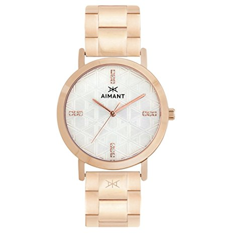 AIMANT Women's Watch Paris Rose Gold with Rose Gold Stainless Steel B