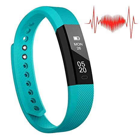 REDGO Fitness Tracker, Heart Rate Monitor Activity Tracker Sleep Monitor, Calories Step Counter IP67 Water Resistant Smart Watch Wearable Device Veryfitpro, Teal