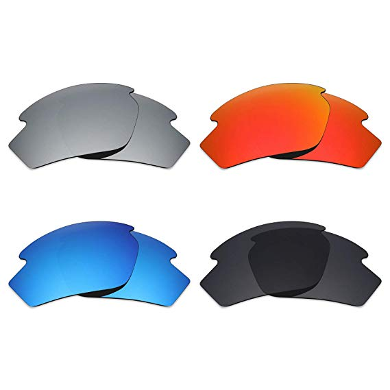 Mryok 4 Pair Polarized Replacement Lenses for Rudy Project Rydon Sunglass - Stealth Black/Fire Red/Ice Blue/Silver Titanium