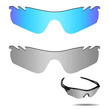 Fiskr Anti-Saltwater Polarized Replacement Lenses for Oakley RadarLock Path Vented Sunglasses 2 Pairs Packed
