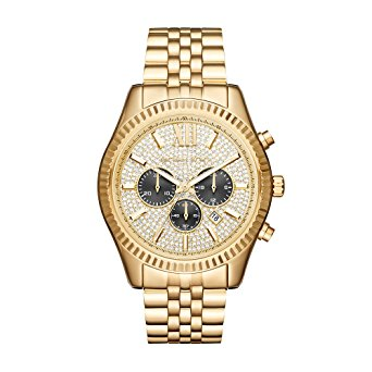 Michael Kors Men's Lexington Gold-Tone Watch MK8494