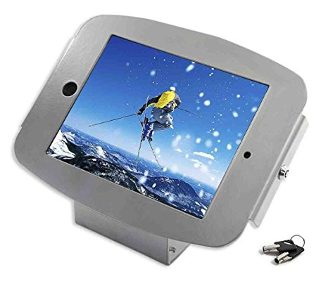 Compulocks 101S235SMENS Maclocks 101B235SMENB iPad Space Enclosure Kiosk With 45-Degree Counter-top or Wall Mount for iPad Mini (Silver)