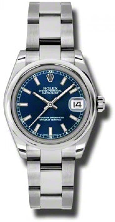 Rolex Datejust Lady 31 Blue Dial Stainless Steel Oyster Bracelet Automatic Watch 178240BLSO