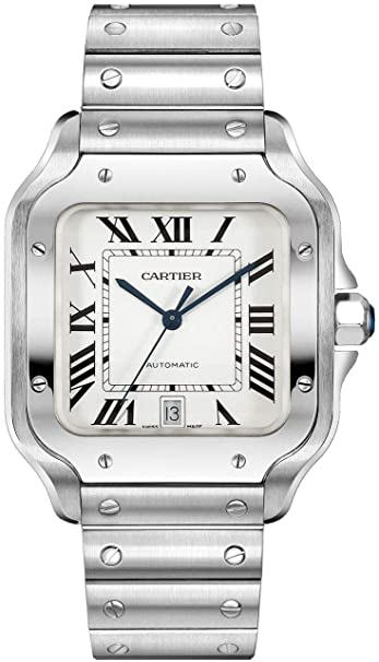 Cartier Santos de Cartier Large Model Automatic Steel, Silver-tone, Size No Size