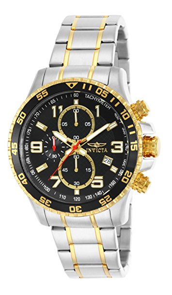 Invicta Men's 14876 Specialty Chronograph 18k Gold Ion-Plated and Sta