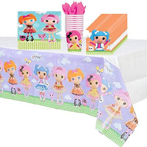 Lalaloopsy Party Supplies Pack Including Plates, Cups, Napkins and Tablecover - 8 Guests by Amscan