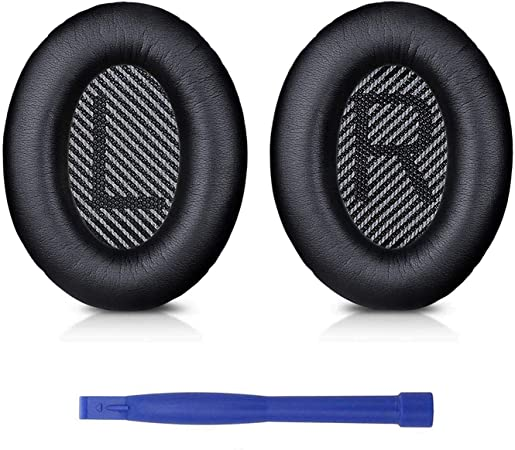 Professional Bose QC35 Ear Pads Cushions Replacement - Earpads Compatible with Bose QuietComfort 35 (QC35) and Quiet Comfort 35 II (QC35 II) Over-Ear Headphones