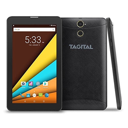 "Tagital 7"" Quad Core 3G Phablet, Android Phone Tablet, Android 6.0, 1024 x 600 IPS Screen, Dual Camera, Unlocked GSM w/ Dual Sim Card Slot, 2G/3G Phablet"