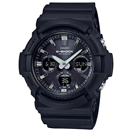 Casio GAS100B-1A G-Shock Tough Solar Men's Watch Black 55.1mm Resin/A