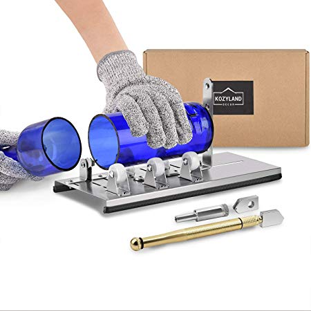 Bottle Cutter & Glass Cutter Kit, for Cutting Wine Bottle or Jars to Craft Glasses, (Gloves Not Included)