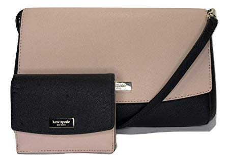 Kate Spade New York Laurel Way Greer WKRU4092 bundled with matching Kate Spade New York Laurel Way Petty Wallet WLRU5215 (Warm Vellum/Black)