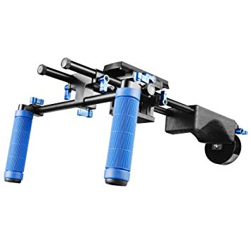 walimex pro Hand Shoulder Video Tripod Video Rig Director II with Counter Weight