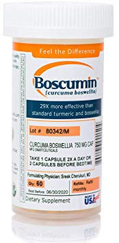 Boscumin® #1 Doctor-Developed Pharmaceutical Strength Curcumin Boswellia with SmartSynergy Technology for Optimal Absorption