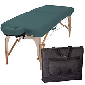 "INNER STRENGTH Portable Massage Table Package E2 - Full Reiki Massage Table Incl. Deluxe Adjustable Face Cradle, Pillow & Carry Case (30""x73"")"