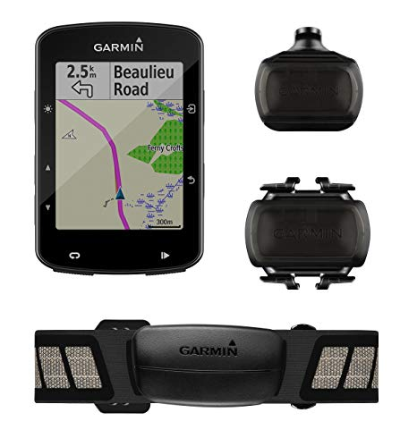 Garmin Edge 520 Plus Speed and Cadence Bundle, GPS Cycling/Bike Computer for Competing and Navigation, Includes Additional Sensors/Heart Rate Monitor