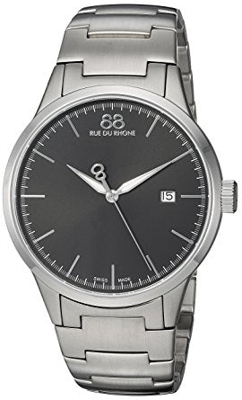 88 Rue du Rhone Men's 'Rive' Swiss Quartz Stainless Steel Dress Watch