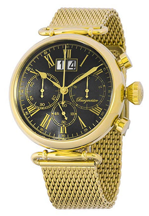 Burgmeister Men's Quartz and Stainless-Steel-Plated Casual Watch, Color:Gold-Toned (Model: BMP01-229)