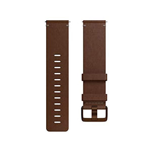 Fitbit Versa Leather Accessory Band, Cognac, Small
