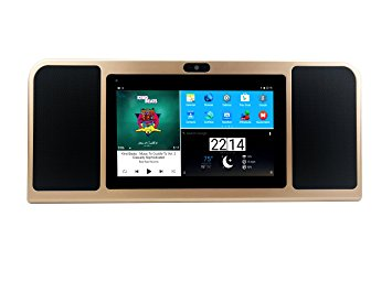 Azpen A770 Tablet with Bluetooth Speaker for Kitchen Countertop (Gold)