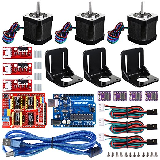 Copy of For Arduino Professional 3D printer CNC Kit,Longruner GRBL CNC Shield +UNO R3 Board+RAMPS 1.4 Mechanical Switch Endstop+DRV8825 A4988 GRBL Stepper Motor Driver with heat sink+Nema 17 Stepper Motor