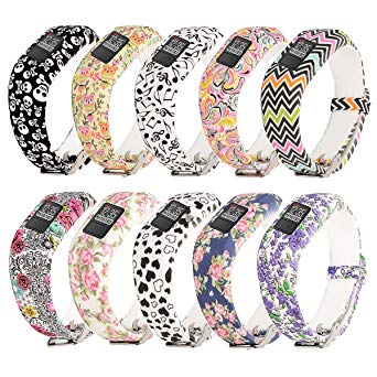 RuenTech Compatible with Garmin Vivofit jr.2 Bands [Printing Patterns Style] Replacement Soft Silicone Adjustable Wristbands Strap For Vivofit jr 2 / Vivofit jr Kid's Band
