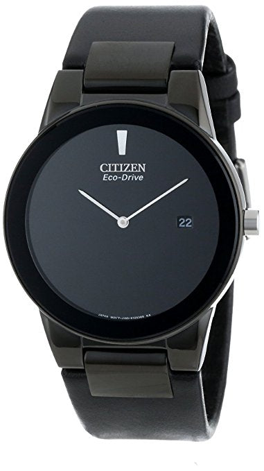 Citizen Men's Eco-Drive Black Ion-Plated Axiom Strap Watch