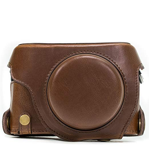 MegaGear Ever Ready Leather Camera Case Compatible with Panasonic Lumix DMC-LX100