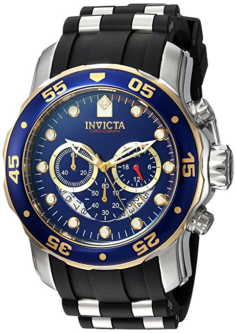 Invicta Men's 'Pro Diver' Quartz Stainless Steel and Silicone Casual