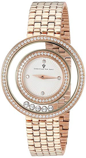 CHRISTIAN VAN SANT Women's Fashion CV4832 Gracieuse Collection White Dial Quartz Analog Watch