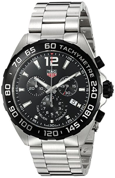 Tag Heuer Men's 'Formula 1' Swiss Quartz Stainless Steel Dress Watch,