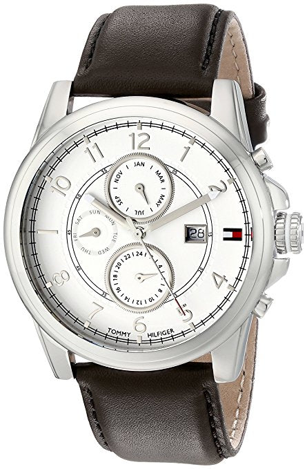 Tommy Hilfiger  Men's 1710294 Stainless Steel Watch with Brown Leathe