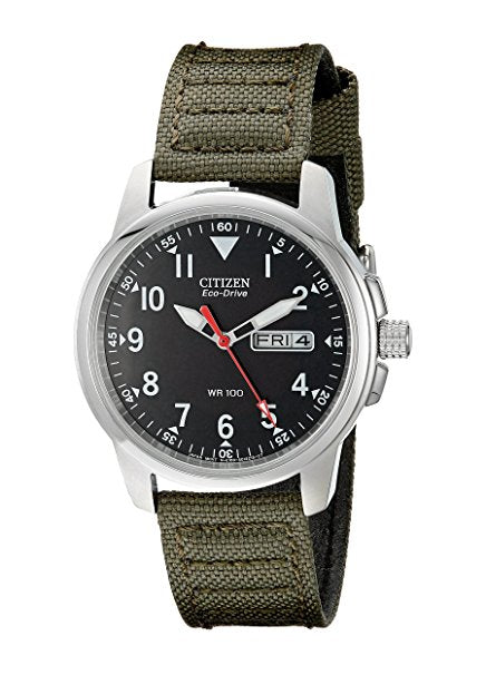 Citizen Men's BM8180-03E Eco-Drive Stainless Steel Watch with Green C