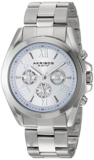 Akribos XXIV Women's Multi-Function Stainless Steel Case on Stainless