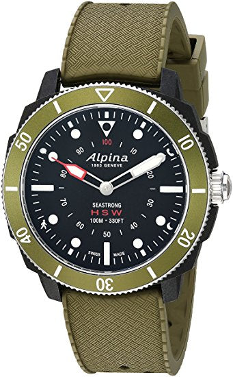 Alpina Men's 'Horological Smart' Quartz Stainless Steel and Rubber Sp