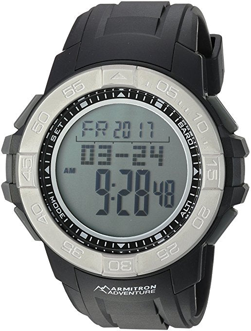 Armitron Adventure Men's AD/1011BLK Digital Multi-Function Black Resi