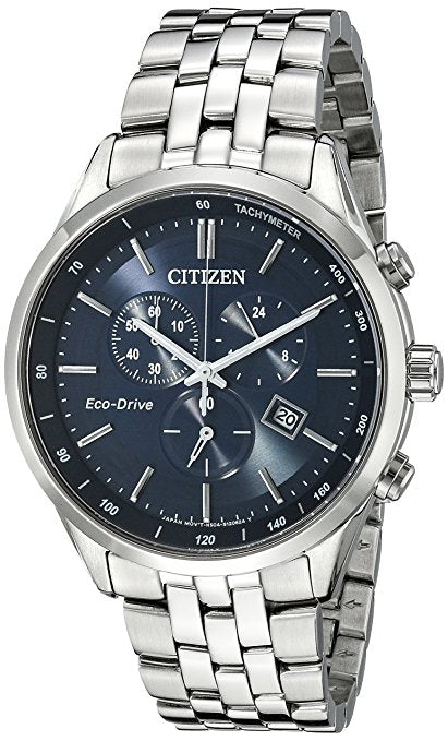 Citizen Men's AT2141-52L Silver-Tone Stainless Steel Watch with Link