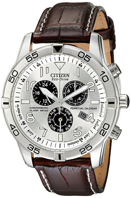 Citizen Men's BL5470-06A Stainless Steel Eco-Drive Watch with Leather