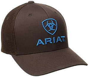 Ariat Men's Blue Half Mesh Hat, Brown, Large/X-Large