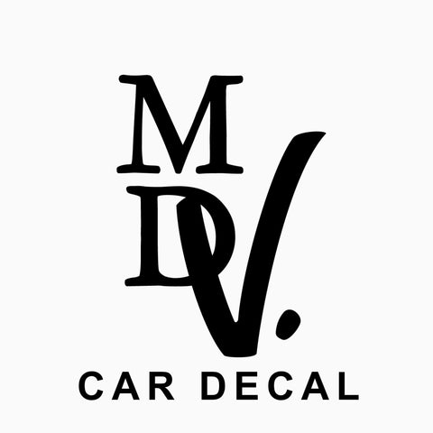 MDV. Car Sticker - Black