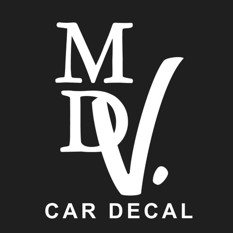 MDV. Car Sticker - White