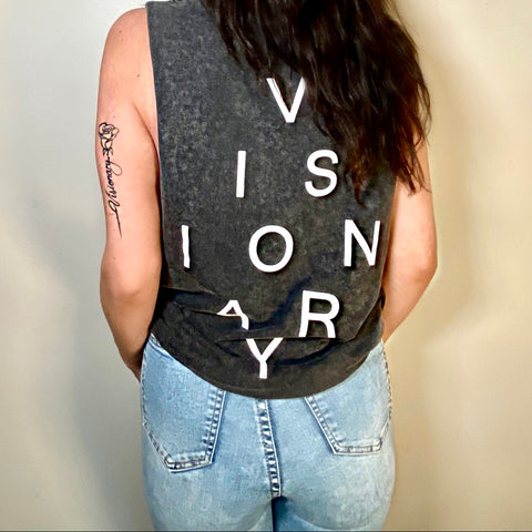 The 'VISIONARY' Tank - stonewash