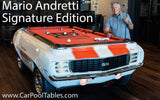 Mario Andretti Signature 1969 Camaro Pace Car Pool Table